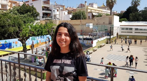L'alumna Sònia Blanes del col·legi Cor de Maria de Mataró, becada per la Fundació Amancio Ortega